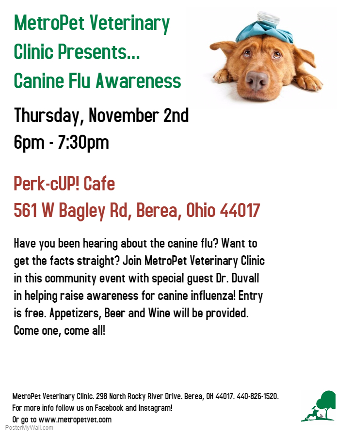 MetroPet Vet Clinic Dog Flu Canine Flu Vaccine Immunization